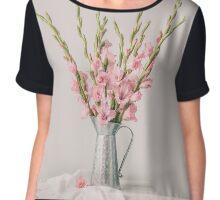 Sweet Gladiolus Chiffon Top