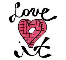 Love It Heart Photographic Print