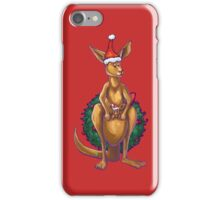 Kangaroo Christmas Silhouette Front iPhone Case/Skin