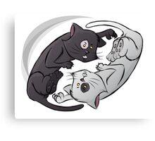 Yin Yang Cat Canvas Print