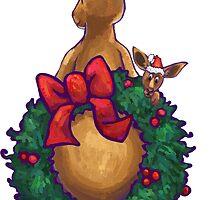 Kangaroo Christmas Silhouette Back by ImagineThatNYC