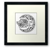 Sleeping Moon Framed Print