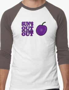 Sun's Out Plums out Men's Baseball ¾ T-Shirt