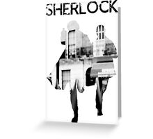 Monochrome Street Sherlock Greeting Card