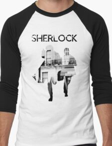 Monochrome Street Sherlock Men's Baseball ¾ T-Shirt