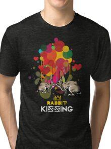Rabbit kissing Tri-blend T-Shirt