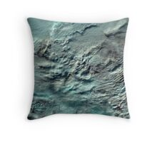Russian Arctic Clouds and Ice Satellite Image Throw Pillow