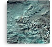 Russian Arctic Clouds and Ice Satellite Image Canvas Print
