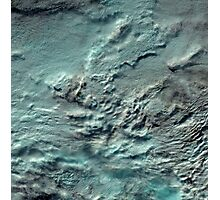 Russian Arctic Clouds and Ice Satellite Image Photographic Print