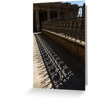 Shapes and Shadows - Antoni Gaudi, Park Guell, Barcelona, Catalonia, Spain Greeting Card