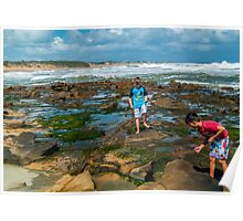 Rockpool Exploring. Poster