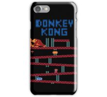 Donkey Kong the classic Nintendo arcade and console game iPhone Case/Skin