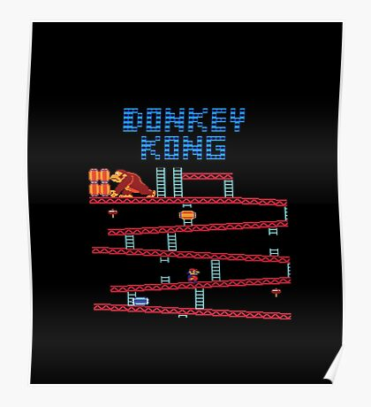 Donkey Kong the classic Nintendo arcade and console game Poster