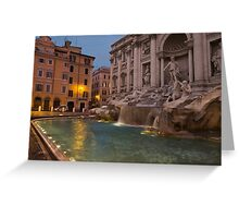 Rome's Fabulous Fountains - Trevi Fountain at Dawn Greeting Card