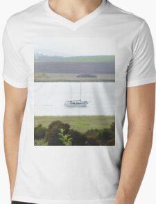 Yatch # Tamar River Mens V-Neck T-Shirt
