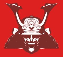 Kabuto graphic in red and white Kids Clothes