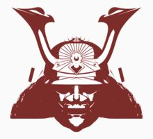 Kabuto graphic in red and white by Steve Crompton