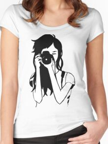 Photographer Girl Women's Fitted Scoop T-Shirt