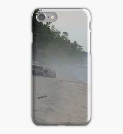 Dark Side of the Moon Rock in Fog iPhone Case/Skin