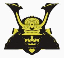 Kabuto graphic in yellow and black Kids Clothes