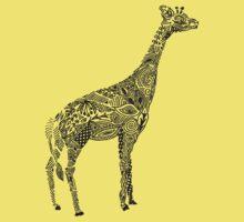 Designer Giraffe Coral Kids Tee