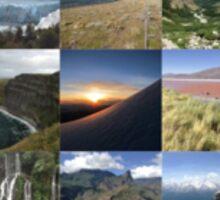Landscape around the world Sticker
