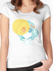 Dreaming in Primary Pastel Women's Fitted Scoop T-Shirt