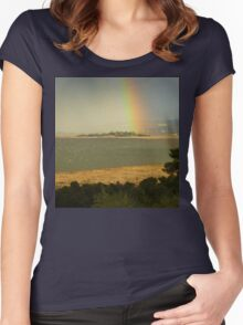 *LAUNCESTON+THE TAMAR RIVER* Women's Fitted Scoop T-Shirt