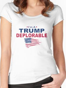 Deplorable Women's Fitted Scoop T-Shirt