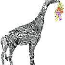 Giraffe with flowers by SuburbanBirdDesigns By Kanika Mathur