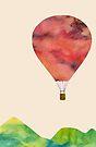 Sunset Balloon  by SuburbanBirdDesigns By Kanika Mathur