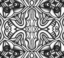 SYMMETRY - Design 003 (B/W) Sticker