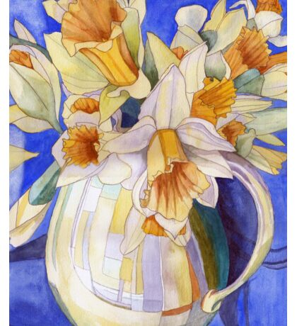 Daffodils in a Yellow Vase Sticker