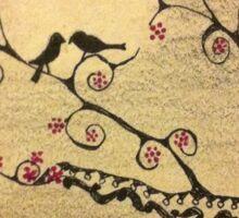 Love Birds by Moonlight Sticker
