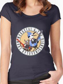 Regular Show Musicians Women's Fitted Scoop T-Shirt