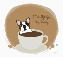Frenchie & Coffee - I Take My Coffee Very Seriously Kids Tee