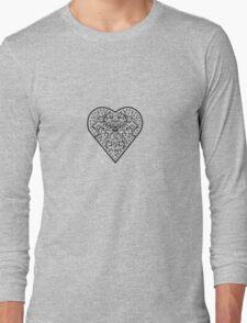 Ironwork heart black Long Sleeve T-Shirt