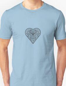 Ironwork heart black Unisex T-Shirt
