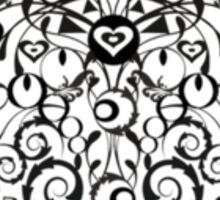 Ironwork heart black Sticker