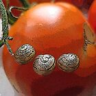Tomato with a snail smile by Alison Broome