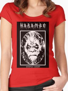 Black Metal Harambe Women's Fitted Scoop T-Shirt