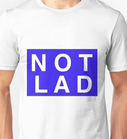 NOTLAD 2X3 RECTANGLE BLUE Unisex T-Shirt