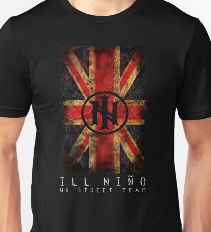 Distressed Union Jack - Ill Nino UK Street Team Unisex T-Shirt