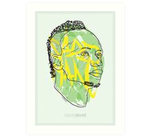 SADIO MANÉ - LIVERPOOL FC - ILLUSTRATION  Art Print