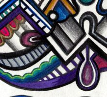 ABSTRACT - Design 005 (Color) Sticker