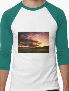 Sunset Sky Men's Baseball ¾ T-Shirt