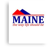 Maine, The Way Life Should Be Canvas Print