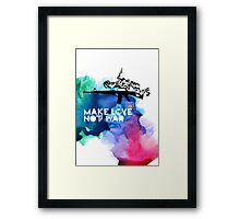 Make Love Not War M16 Framed Print