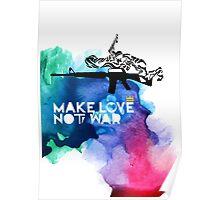 Make Love Not War M16 Poster
