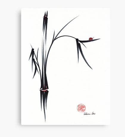 """""""Gentle Soul"""" Chinese japanese ink brush pen painting Canvas Print"""